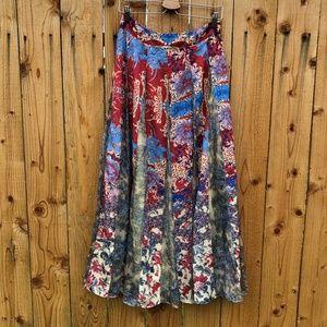 Anthropologie Hemant Nandita Louvre Maxi Skirt